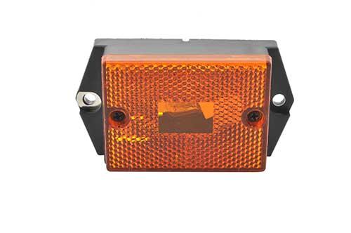 rectangular single bulb clearance light reflector yellow - 360