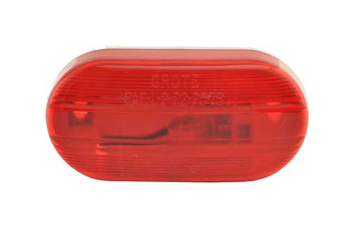 single bulb oval clearance marker light optic red - 360