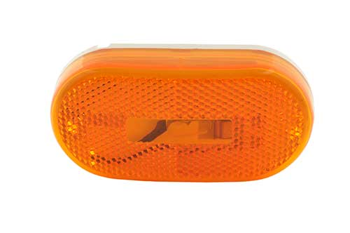 single bulb oval clearance marker light reflector yellow - 360