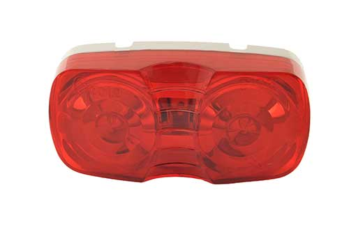 two bulb square corner clearance marker light retail red duramold - 360