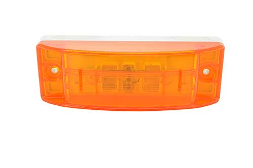 Lámpara LED de gálibo/marcadora Sealed Turtleback® II, Lente óptico, Amarillo - 360