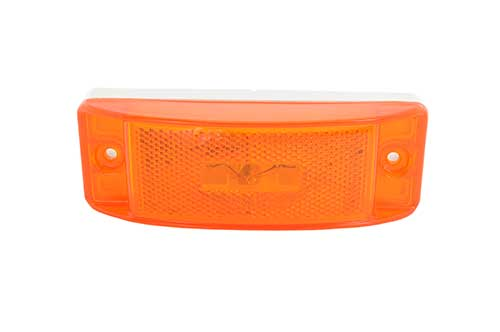 Sealed Turtleback® II Clearance/Marker Light, Built-In Reflector, Yellow - 360