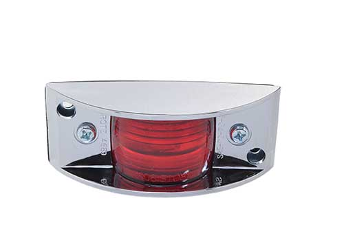 chrome armored clearance marker light red - 360