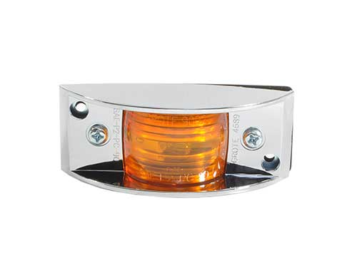 chrome armored clearance marker light yellow bulk - 360