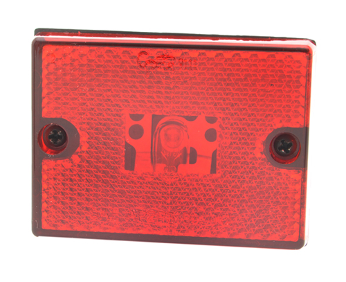 rectangular submersible clearance marker light reflector red retail - 360