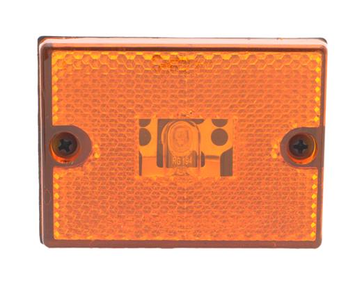 rectangular submersible clearance marker light reflector retail yellow - 360