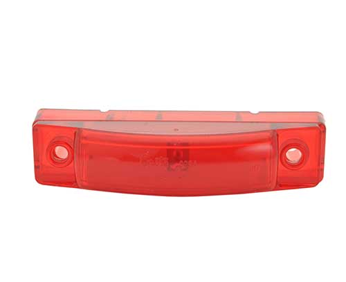 supernova thin line led clearance marker light red - 360