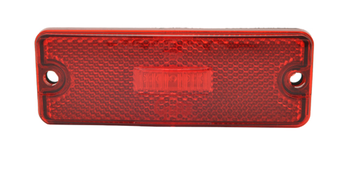 Sealed Rectangular LED Clearance Marker Light, Red - 360