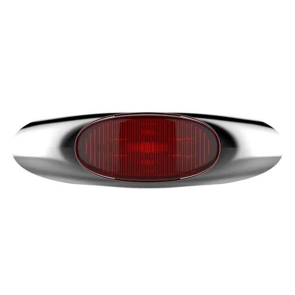 Red LED Clearance Marker Light With Chrome Bezel. - 360
