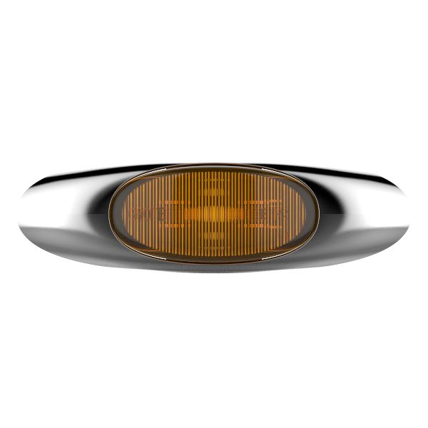 Yellow LED Clearance Marker Light With Chrome Bezel. - 360