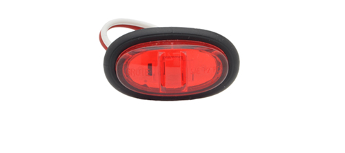 Red LED Clearance Marker Light With Grommet. - 360