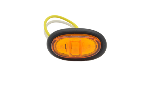 Yellow LED Clearance Marker Light With Grommet. - 360