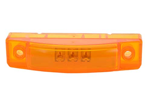 supernova 3 center thin line dual intensity led clearance marker light yellow - 360
