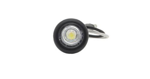MicroNova® Dot White LED Clearance Marker Light With Grommet. - 360