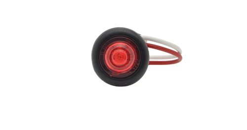 MicroNova® Dot Red LED Clearance Marker Light With Grommet. - 360