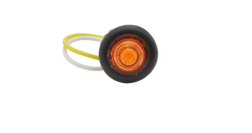 MicroNova® Dot Yellow LED Clearance Marker Light With Grommet. - 360