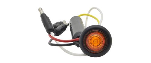 Amber LED Slim Line Clearance Marker Light With Grommet. - 360