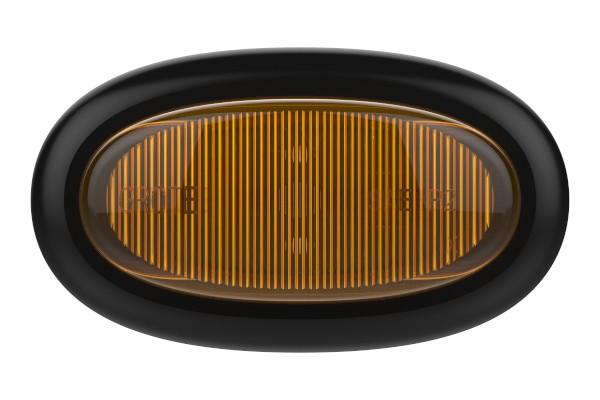 yellow dual intensity micronova led clearance marker light slim line - 360
