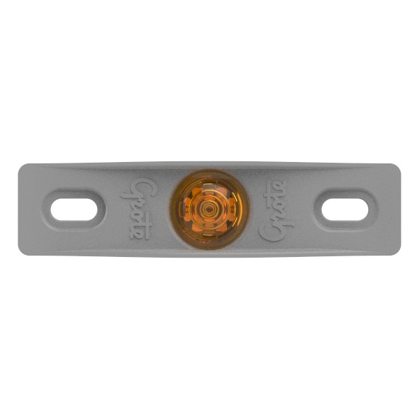 MicroNova® Dot Yellow LED Clearance Marker Light With Gray Adapter Bracket. - 360