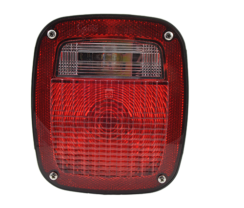 torsion mount three stud gmc stop tail turn light rh license window - 360