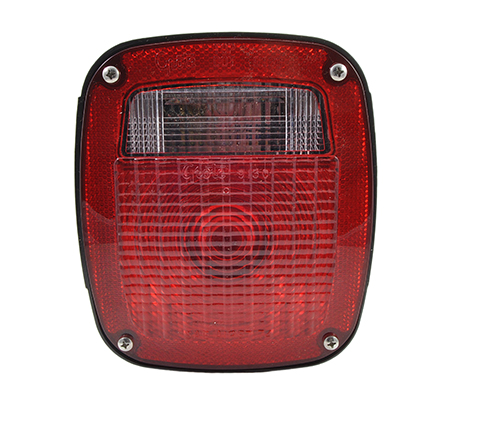 supernova three stud led stop tail turn light license window red - 360