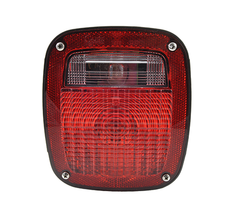 Three-Stud Peterbilt® Chevrolet® Jeep® GMC® Stop Tail Turn Light with Pigtail, Red - 360