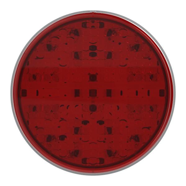 Luz LED de frenado/trasera/direccional con diseño completo SuperNova®, 4″, Montaje con aro protector, 24 V, Rojo - 360