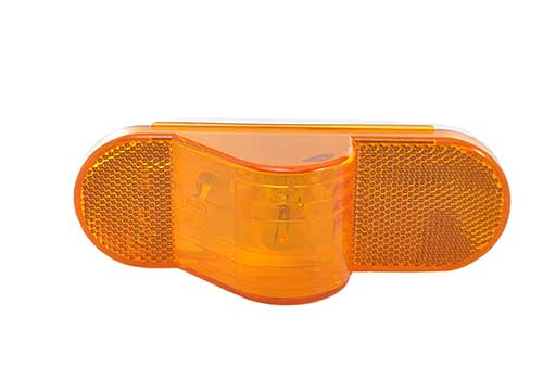 economy oval side turn marker light amber - 360