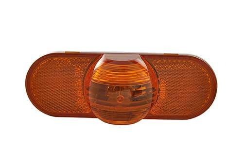 torsion mount III oval side turn marker light male amber - 360
