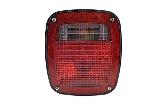 three stuf chevrolet ford jeep stop tail turn light w/ side marker molded pigtail termination rh red - 360