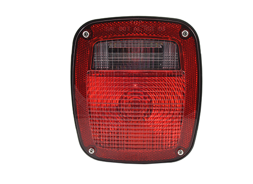 three stuf chevrolet ford jeep stop tail turn light w/ side marker molded pigtail termination lh red - 360
