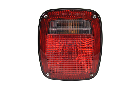 trosion mount two stud stop tail turn light side marker molded pigtail termination lh red - 360
