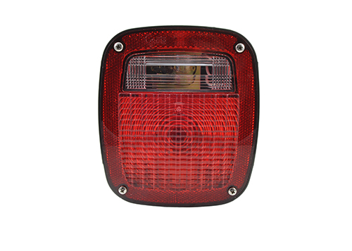 torsion mount unicersal stop tail turn light rh license window red - 360
