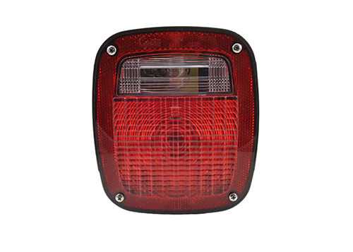 torsion mount unicersal stop tail turn light lh license window red - 360