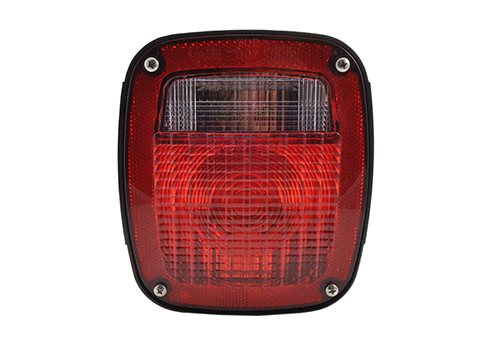 two stud ford stop tail turn light with pigtail molded plug red - 360