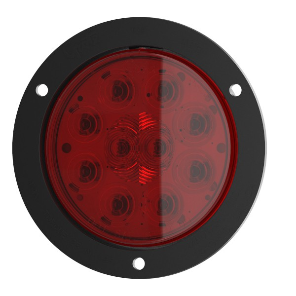 "SuperNova® 4"" 10-Diode Pattern LED Stop Tail Turn Light with black flange - 360"