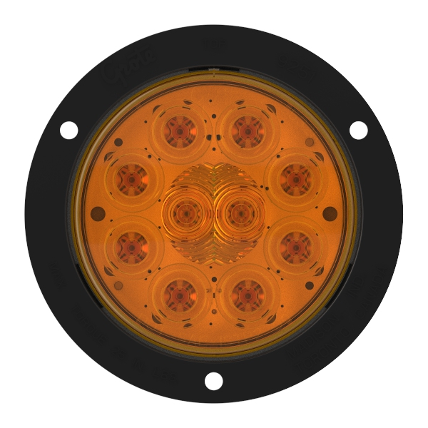 LED Auxiliary Turn Light with Black Theft-Resistant Flange - 360