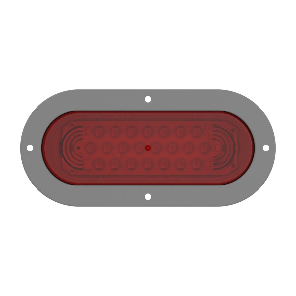 supernova oval led stop tail turn light theft resistant flange red - 360