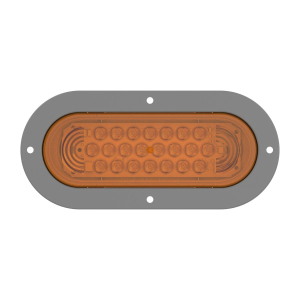 supernova oval led stop tail turn light gray theft resistant - 360