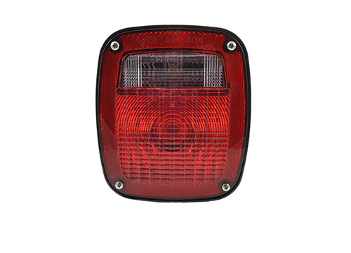 three stud metri pack stop tail turn light rh license window red - 360