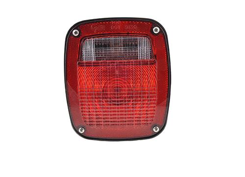 three stud metri pack stop tail turn light lh license window red - 360