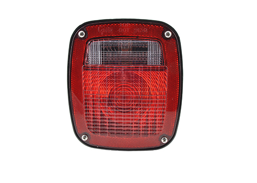 two stud merti stop tail turn light single connector red - 360