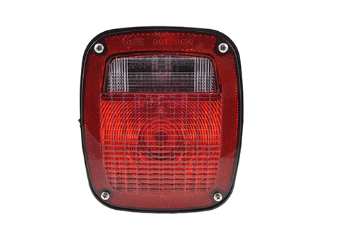 ford stop tail turn box light rh license window red - 360