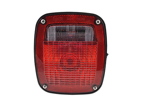 ford stop tail turn box light lh license window red - 360