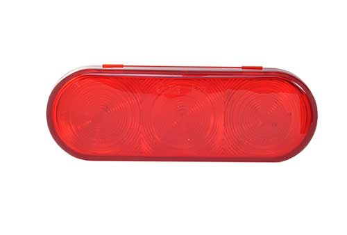 Red LED Oval Stop Tail Turn Light. - 360