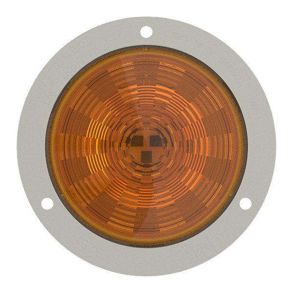 SuperNova Amber LED Auxiliary Light With Stainless Steel Flange. - 360