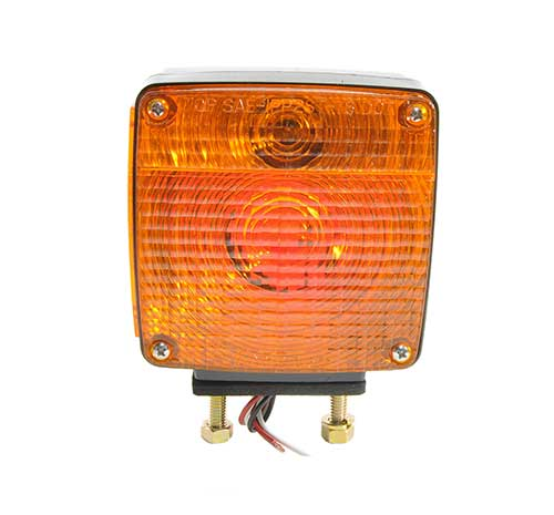 two stud light pigtail rh red amber - 360