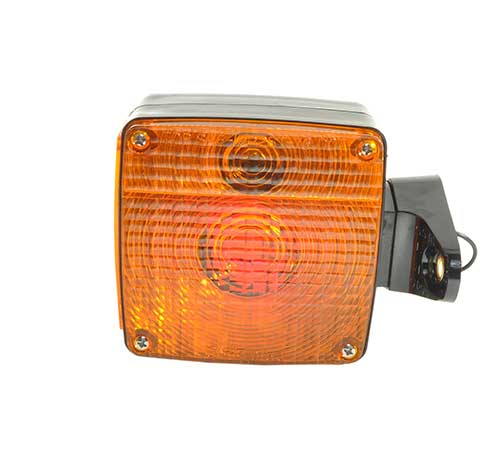 pedestal mount light pigtail polycarbonate fender red amber - 360