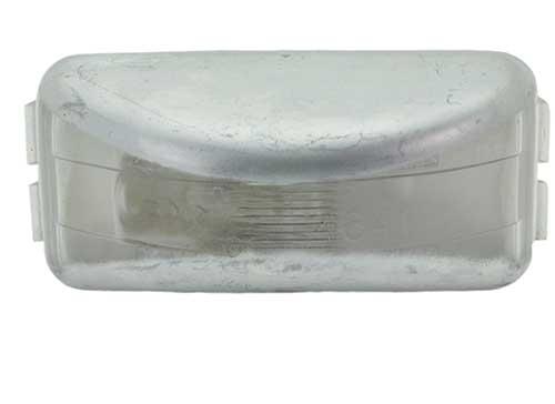 small rectangular license light clear - 360