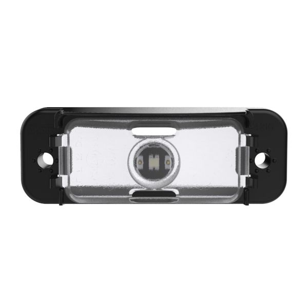 LED License Light With Black Horizontal Mount. - 360